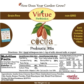 Cocoa Prebiotic Mix by Virtue - 8.2oz